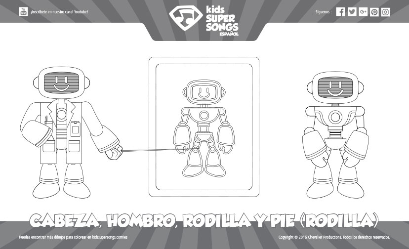 Dibujo para Colorear - Cabeza, Hombro, Rodilla y Pie (Rodilla ...