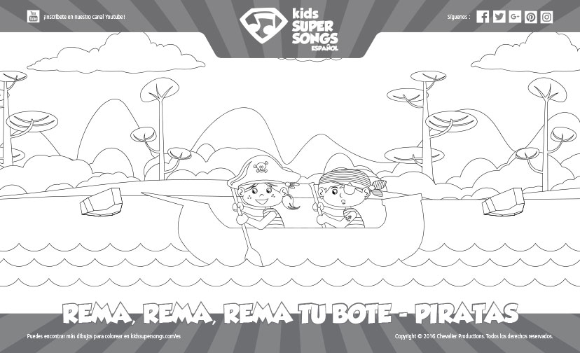 Dibujo Para Colorear Rema Rema Rema Tu Bote Piratas